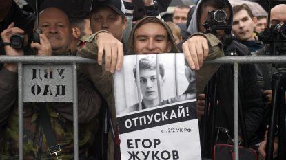 """""""Laat Egor Zhukov vrij!"""": Russische studenten komen op voor gevangengenomen medestudenten tijdens protesten in Moskou"""