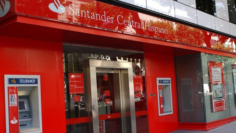 Santander Central Hispano in Madrid. Beeld null
