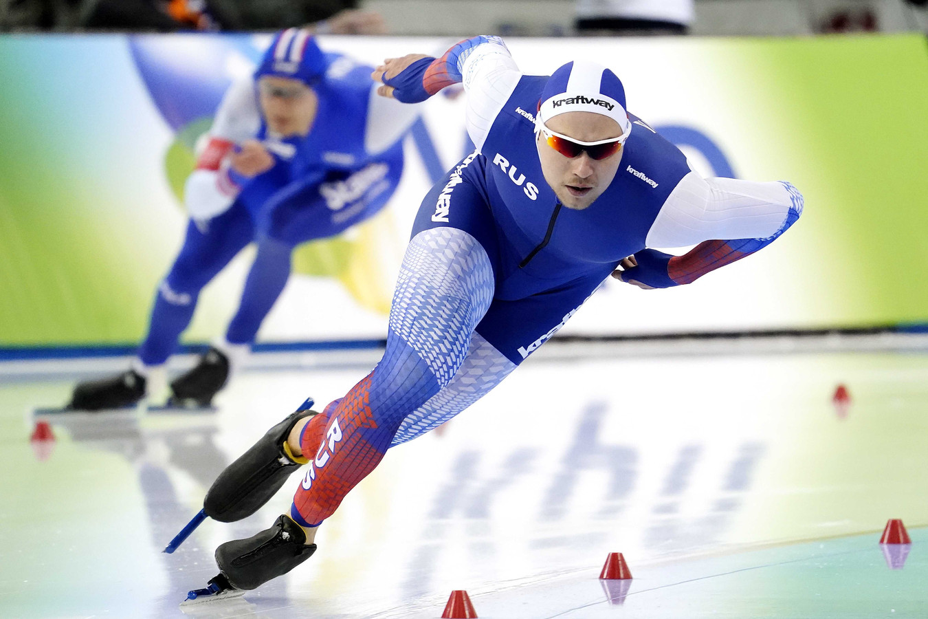 Pavel Koelizjnikov op de 500 meter.