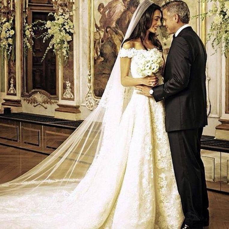 George Clooney en Amal Alamuddin trouwden in 2014.