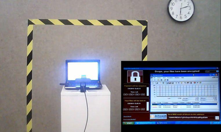 Een afbeelding uit de livestream.