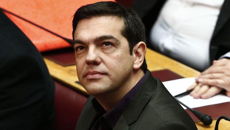 Syriza-leider Alexis Tsipras. Beeld null