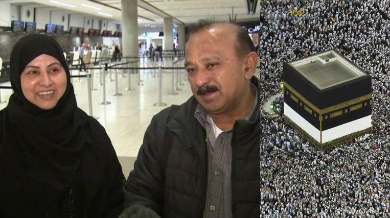 Rehana Parveen en haar man Mohammad Shamim Siddiqui. Hij overleefde de aanslagen in Christchurch