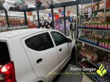Auto rijdt Lidl binnen, bestuurder verdacht van poging tot doodslag