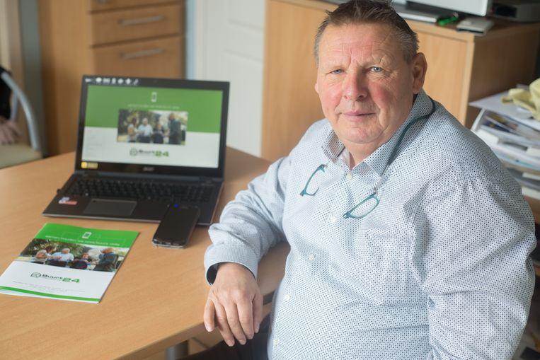 Rudi Smets uit Bilzen stelt de app  buurtpreventie24 voor die hij zelf heeft ontwikkeld en die het gemeentebestuur van Riemst nu gratis aan z'n inwoners aanbiedt.