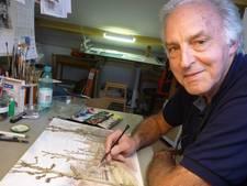Kunstschilder Hans Scholman verrast na 35 jaar met Cothense molen