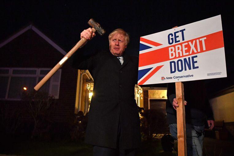 Johnson wil duidelijk maken dat zijn Get Brexit Done meer was dan een verkiezingsleus.  Beeld null