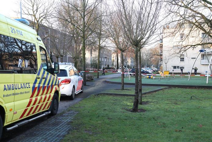 De schietpartij vond plaats vlak naast een speeltuintje.