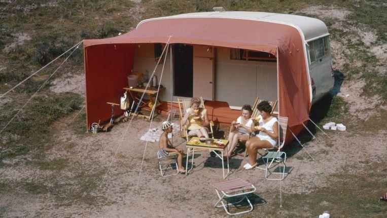 Een caravan in volle glorie, 1966. Beeld Hollandse Hoogte