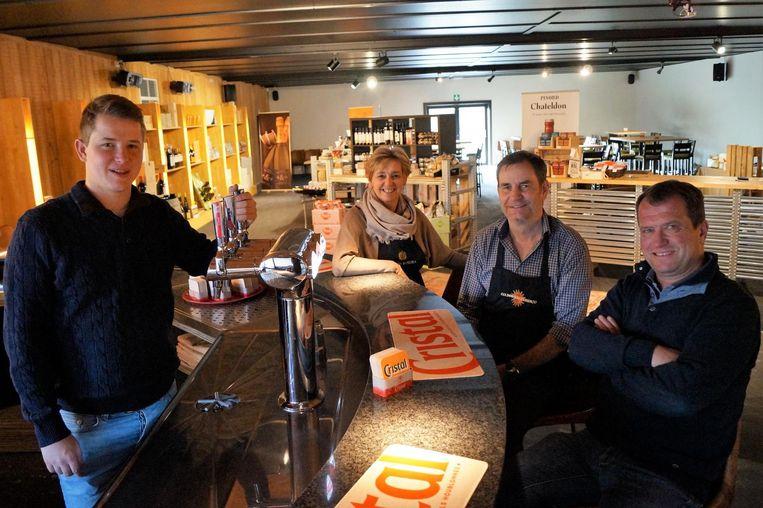 Sies Baert, Sigrid Olengier, Pascal Heytens en Wouter Baert.
