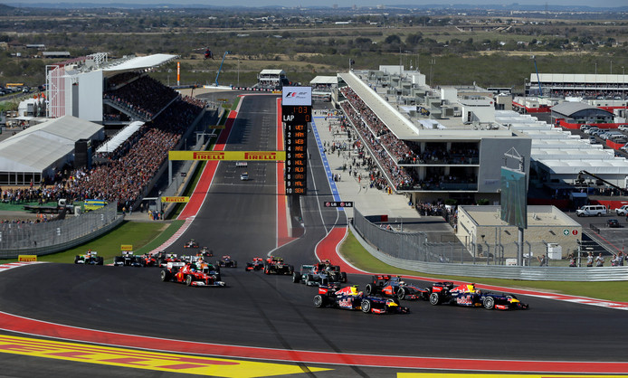 Het Circuit of the Americas in Austin.
