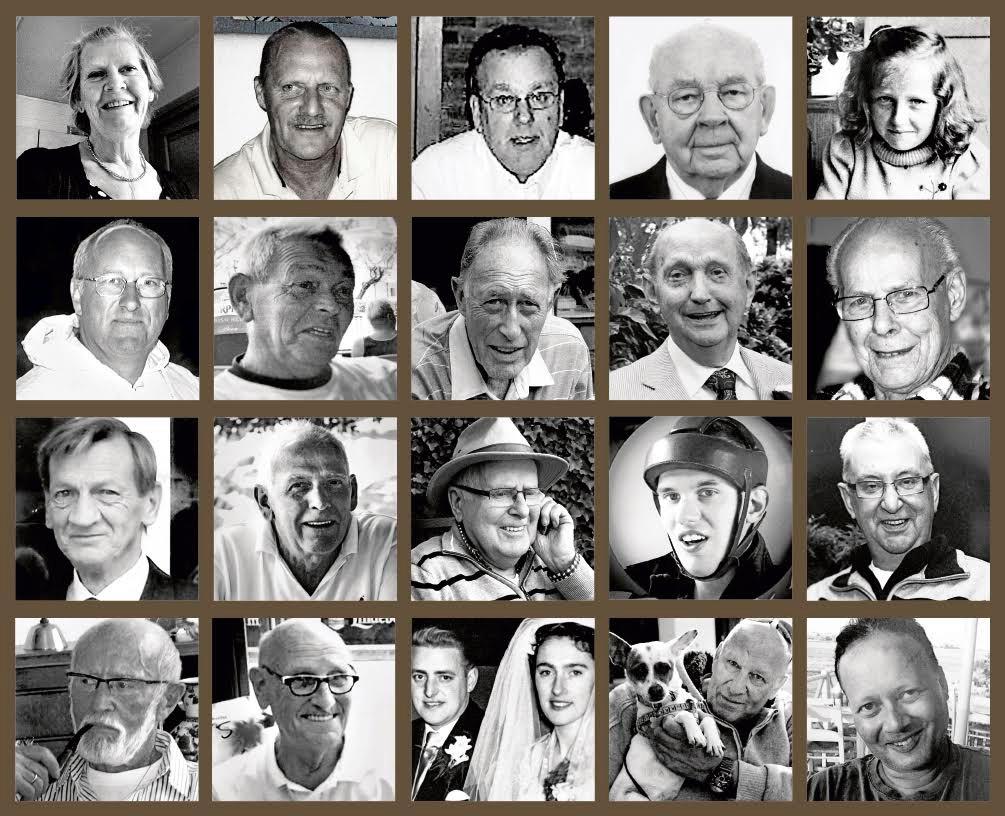 De gezichten van mensen die overleden aan Q-koorts.