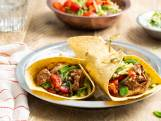 Kip tandoori-wraps van de BBQ