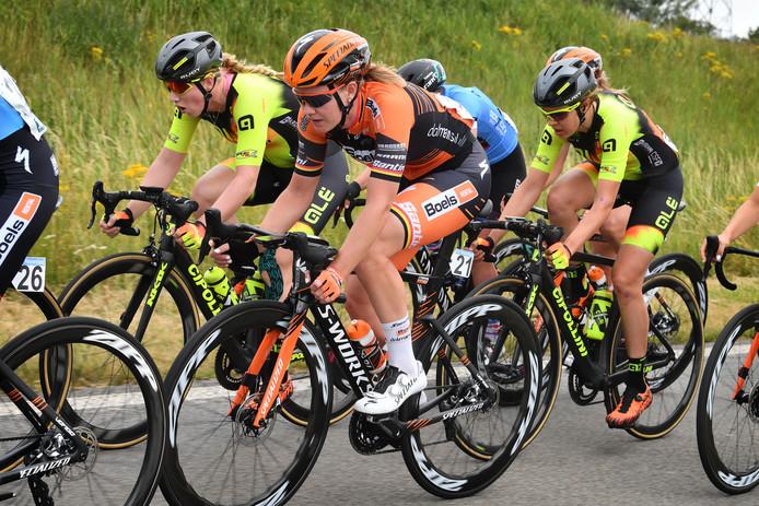 Jolien D'Hoore tijdens de eerste etappe.