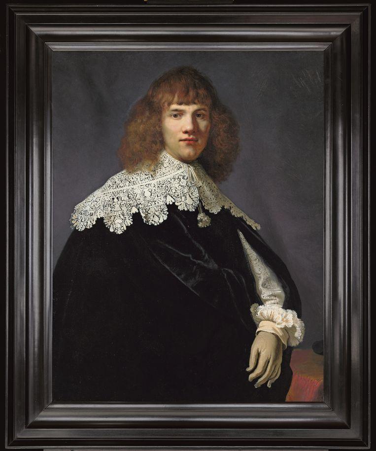 Portret van een jongeman - Rembrandt- met lijst  Beeld René Gerritsen/ Collectie Jan Six