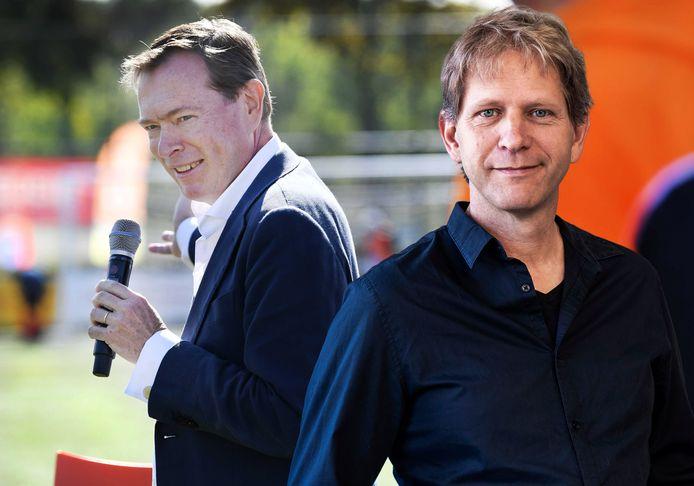 Weer helemaal uitgerust: Bruno Bruins (links) tijdens de opening van de Nationale Sportweek op Sportpark Galecop in Nieuwegein.