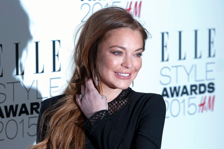 2015-02-24 20:54:23 epa05388927 (FILE) A file picture dated 24 February 2015 shows US actress Lindsay Lohan arriving at the Elle Style Awards in London, Britain. Lohan turns 30 years old on 02 July 2016.  EPA/HANNAH MCKAY