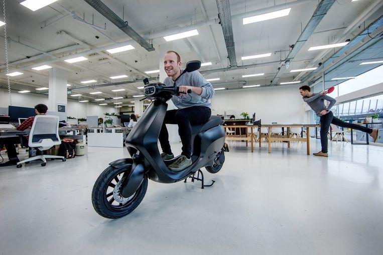 Het kantoor van e-scooter start-up Bolt Mobility. Beeld Jean-Pierre Jans