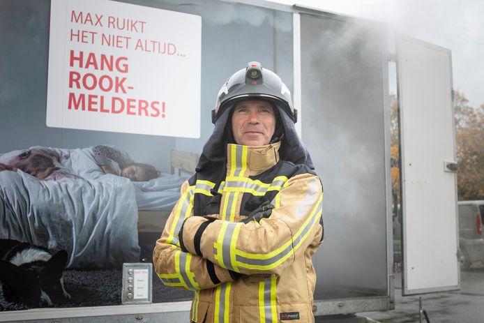 """Brandpreventieadviseur Frank Samson: """"'s Nachts merk je rook niet op. Zelfs de hond ruikt het niet."""""""