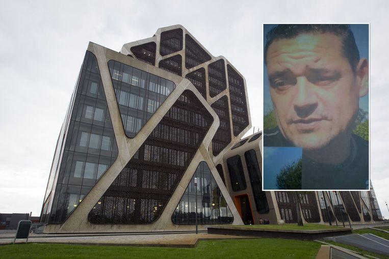 Het justitiepaleis van Hasselt. Inzet: slachtoffer Bart Loisen (46).