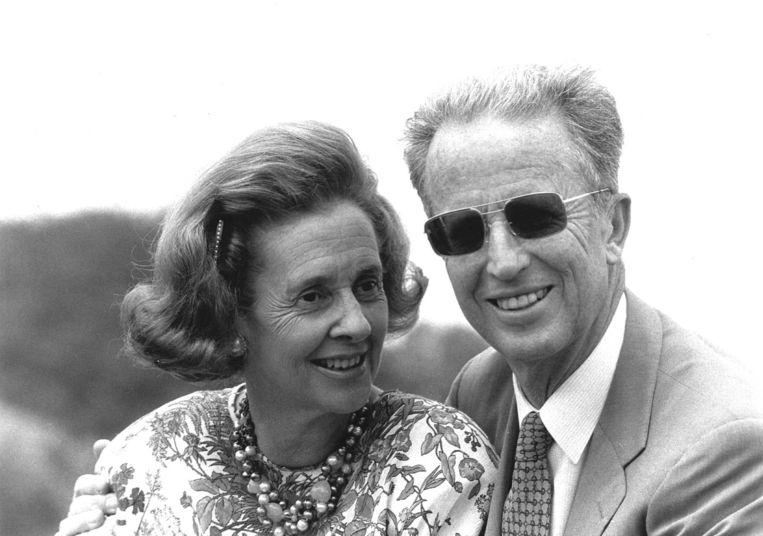Koning Boudewijn (rechts) en koningin Fabiola.