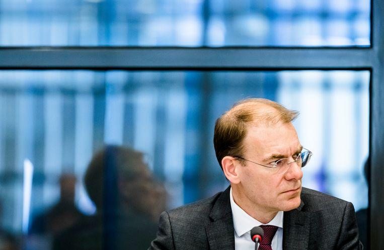 Staatssecretaris Menno Snel van Financien eerder dit jaar, tijdens het algemeen overleg in de Tweede Kamer over de langlopende kwestie rond het stopzetten van de kinderopvangtoeslag bij honderden ouders.  Beeld ANP