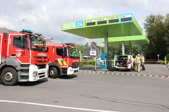 Het tankstation werd een tijd afgesloten, maar uiteindelijk was er geen gevaar.