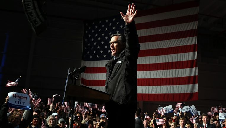 Romney zondag in Virginia Beeld afp