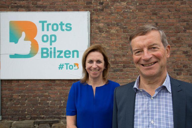 Inge Moors en Johan Sauwens stellen het logo van de nieuwe beweging voor.