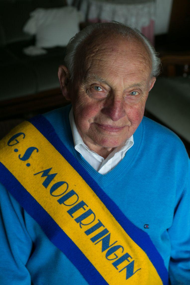Arnold Parhoens is de oudste supporter.