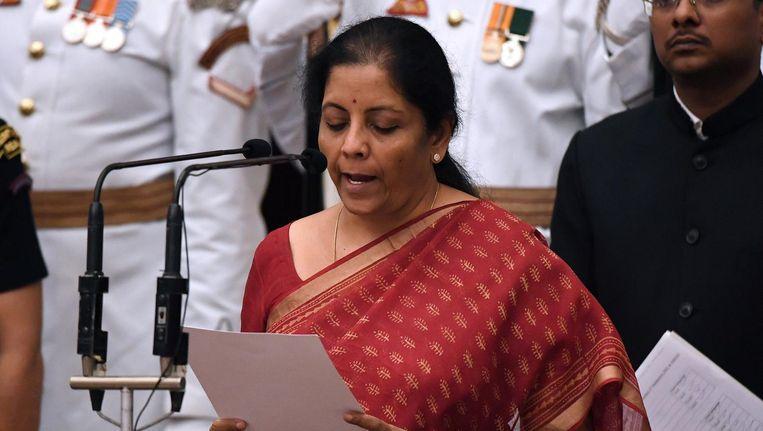 Nirmala Sitharaman heeft vandaag de eed afgelegd als minister van Defensie.