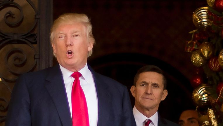 Trump met Michael Flynn. Beeld AFP