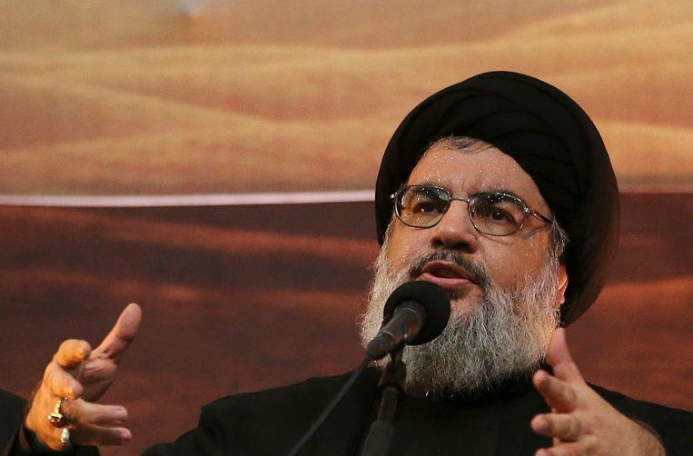 Hezbollah-leider Hassan Nasrallah.