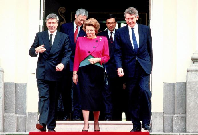 Ruud Lubbers samen met koningin Beatrix in 1989.