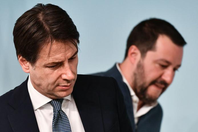 Le Premier ministre Giuseppe Conte et Matteo Salvini.
