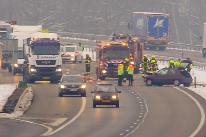 Ongeluk A67 bij Liessel.