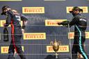 Een week geleden bleef Lewis Hamilton Verstappen nog voor.
