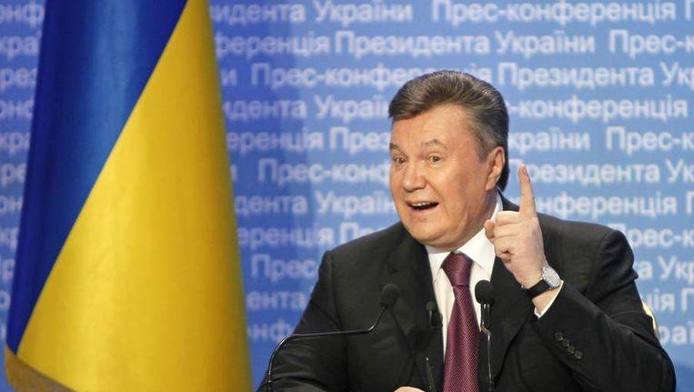 Oekraïnse president Viktor Janoekovitsj. Beeld reuters