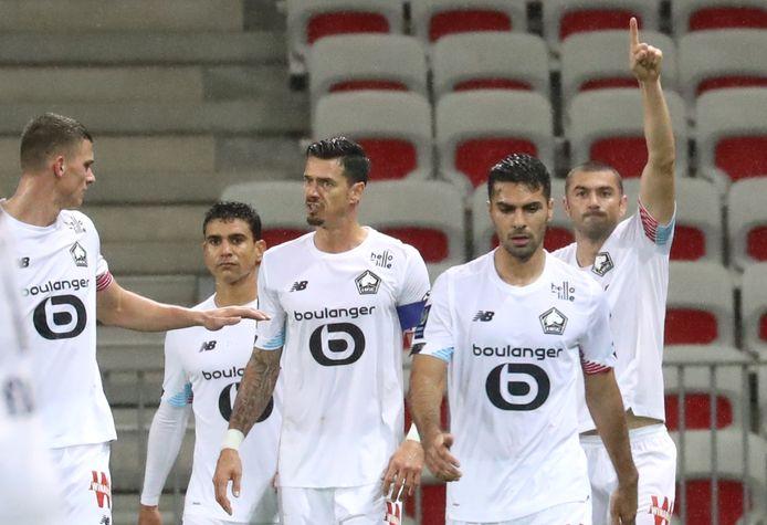 Lille viert de gelijkmaker tegen Nice.