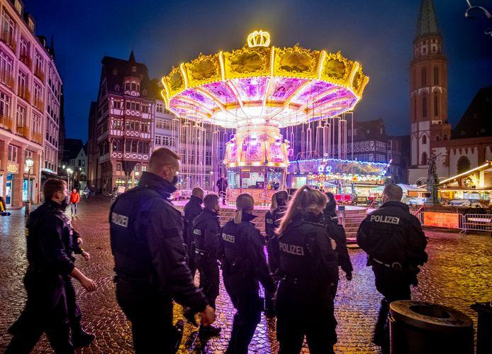 Agenten in Frankfurt eerder deze maand, beeld ter illustratie.