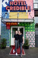 Loes de Kort en Mark Nijhuis van hotel Credible in Nijmegen.