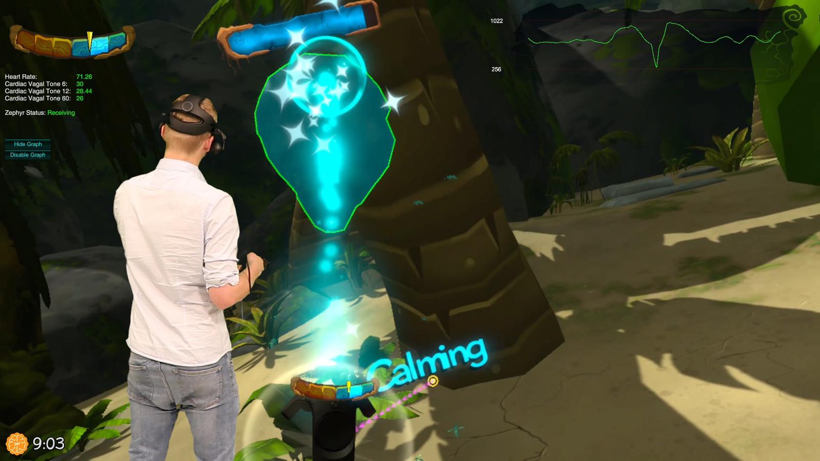 Screenshot uit de stress-game.