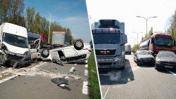 Complete ravage: 16 voertuigen betrokken bij zware crash op N60 in Nazareth