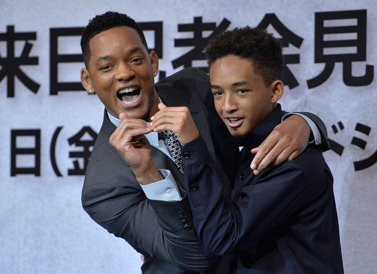 Will Smith en zijn zoon Jaden in 2013. De twee zijn nog altijd heel erg close.