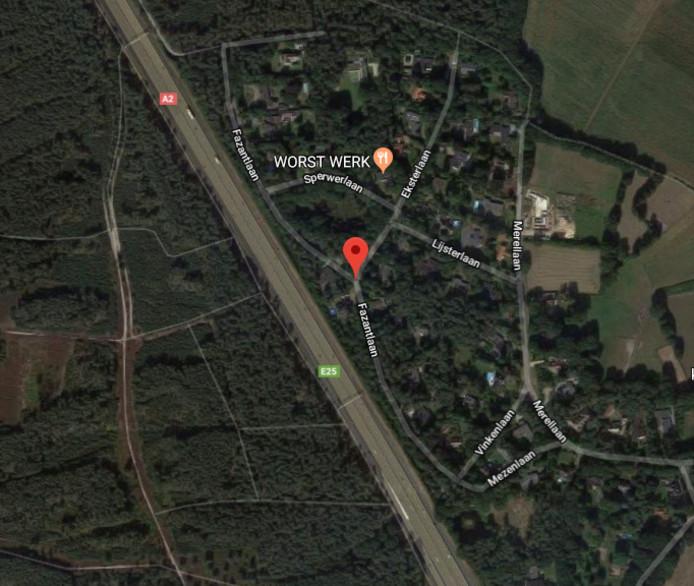 De A2 ligt vlak langs de Fazantlaan in Leende.