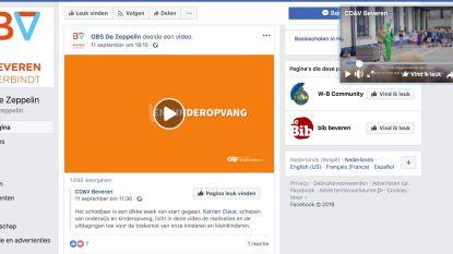 Beveren 2020 hekelt promofilmpje op Facebookpagina gemeenteschool