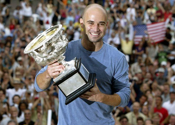 Andre Agassi na de Australian Open finale in 2003
