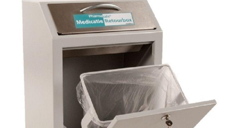 Metalen Afsluitbare Kast.Apothekers Weigeren Overtollige Medicijnen Terug Te Nemen De