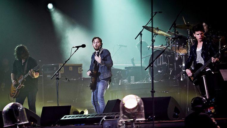 Kings of Leon op het Roskilde-festival, begin deze maand. Beeld epa