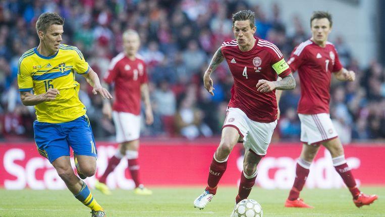 Agger (4) maakte de enige goal.